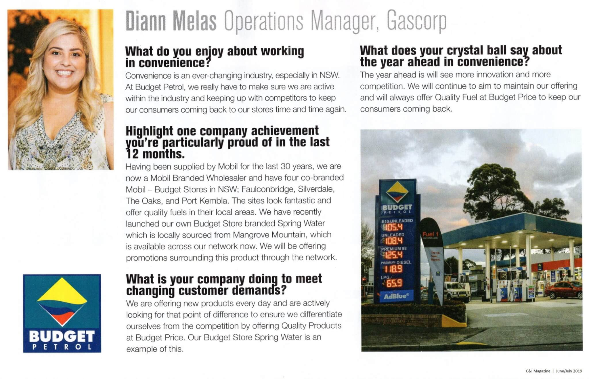 Diann Melas, Operations Manager features in C&I Magazine June/July 2019 issue